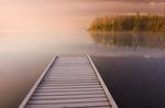 dock, Glad Lake, Duck Mountain Provincial Park, Manitoba, Canada