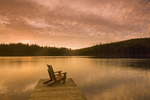chair on dock, Glad Lake , Duck Mountain Provincial Park, Manitoba, Canada