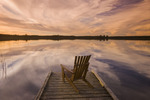 chair on dock, Beautiful Lake , Duck Mountain Provincial Park, Manitoba, Canada
