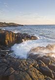 basalt rock cliffs, Dartmouth Point,  Long Island, Bay of Fundy, Nova Scotia, Canada