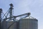 closeup of grain bin(silo) ,  near Niverville, Manitoba, Canada