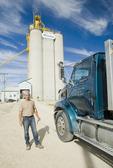 farm truck hauling crop to an inland terminal Rosser, Manitoba, Canada