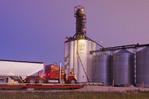 farm truck hauling crop to an inland terminal near Winnipeg, Manitoba, Canada