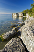 limestone cliffs, Steep Rock, along Lake Manitoba, Canada