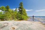 hiking near Rossport along Lake Superior, Ontario, Canada