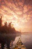 kayaking, Lyons Lake, Whiteshell Provincial Park, Manitoba, Canada