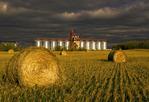 oat straw rolls, inland grain terminal, near Yorkton, Saskatchewan , Canada