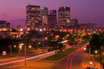 Winnipeg skyline from the forks, Winnipeg, Manitoba, Canada