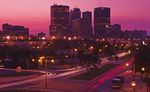 downtown  Winnipeg from the Forks, Manitoba, Canada