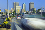 Water and Pioneer Avenues- leading in and out of downtown area, Winnipeg, Manitoba, Canada