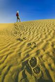hiking in the Great Sandhills of Saskatchewan, near Sceptre, Saskatchewan, Canada