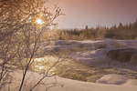 winter along the Pinawa Channel, near Pinawa, Manitoba, Canada