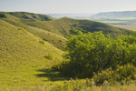 eroded hills looking down over the Qu´Appelle  River Valley,  Saskatchewan, Canada