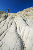 hiker, Dinosaur Provincial Park, Alberta, Canada