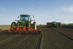 planting potatoes and prepping fiels for planting, near Cypress River, Manitoba, Canada
