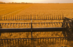 motion study of a a combine header during the spring wheat harvest, near Lorette, Manitoba, Canada