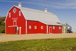 red barn near Woseley, Saskatchewan, Canada