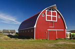red barn near Woseley, Saskatchewan, Canada