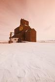 old grain elevator, Viceroy, Saskatchewan, Canada