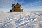 abandoned farm house, near Assiniboia, Saskatchewan, Canada