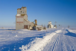 grain elevators, Bromhead, Saskatchewan, Canada