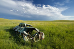old car, near Val Marie,  ,Saskatchewan, Canada