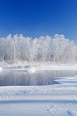 winter along the Whiteshell River, Whiteshell Provincial Park, Manitoba, Canada