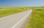 road through Canadian Prairies, near Swift Current , Saskatchewan, Canada