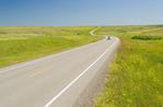road through Canadian Prairies, near Swift Current , Saskatchewan, Canada