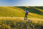 hiking, West Block, Grasslands National Park, Saskatchewan, Canada