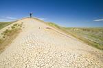 hiking on top of 70 Mile Butte in the West Block, Grasslands National Park, Saskatchewan, Canada