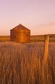 abandoned grain bin, Thunder Creek, Saskatchewan, Canada