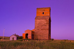 old grain elevator , ghost town of Neidpath, Saskatchewan, Canada