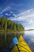 kayaking, Little Deer Lake, Lac La Ronge Provincial Park,  Saskatchewan, Canada