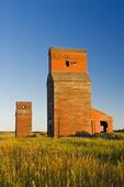 old grain elevators , ghost town of Neidpath, Saskatchewan, Canada