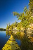 kayak on Lake of the Woods, Northwestern Ontario, Canada