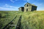 abandoned farmhouse, near Ponteix, Saskatchewan, Canada