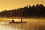 family canoeing  Whiteshell River, Whiteshell Provincial Park, Manitoba, Canada