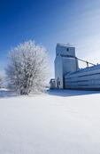 old grain elevator, Tyndall, Manitoba, Canada