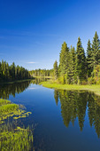 Waskesiu River, Prince Albert National Park, Saskatchewan, Canada