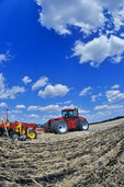 tractor with air seeding equipment, Manitoba, Canada