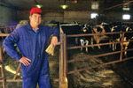 dairy farmer, Manitoba, Canada
