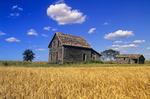 old farm house near Beausejour, Manitoba, Canada