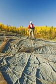 precambrian shield rock along the Winnipeg River, near Seven Sisters, Manitoba, Canada