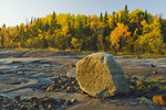 precambrian shield rock along the Winnipeg River, near Seven Sisters, Manitoba, Canada