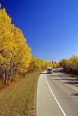 camper on road, Birds Hill Provincial Park, Manitoba, Canada