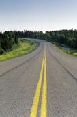 road near Thompson, Manitoba, Canada