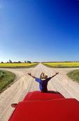 road near Niverville, Manitoba, Canada