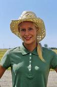 farm girl wearing straw hat