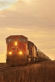 train near Winnipeg, Manitoba, Canada